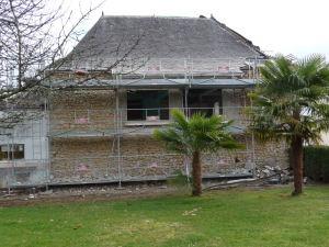 Décrépissage façade ouest