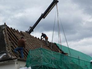Démolition du toit