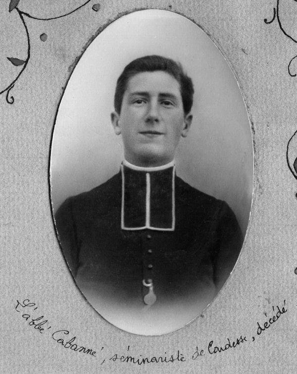 L'abbé Cabanné, séminariste de Cardesse, décédé
