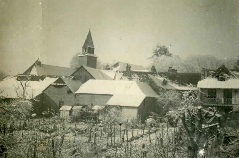 Village de Cardesse sous la neige