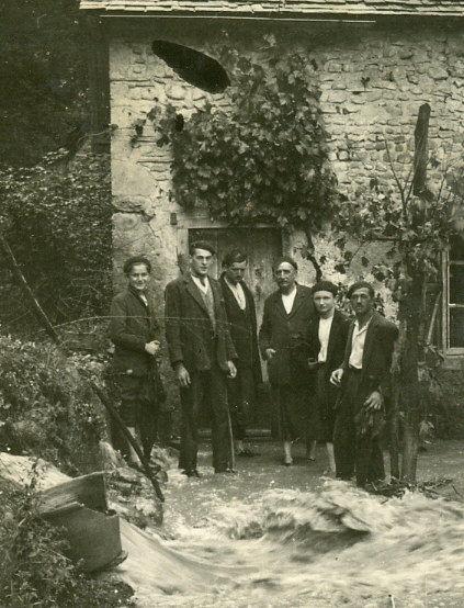 Inondation en 1930 au vieux moulin
