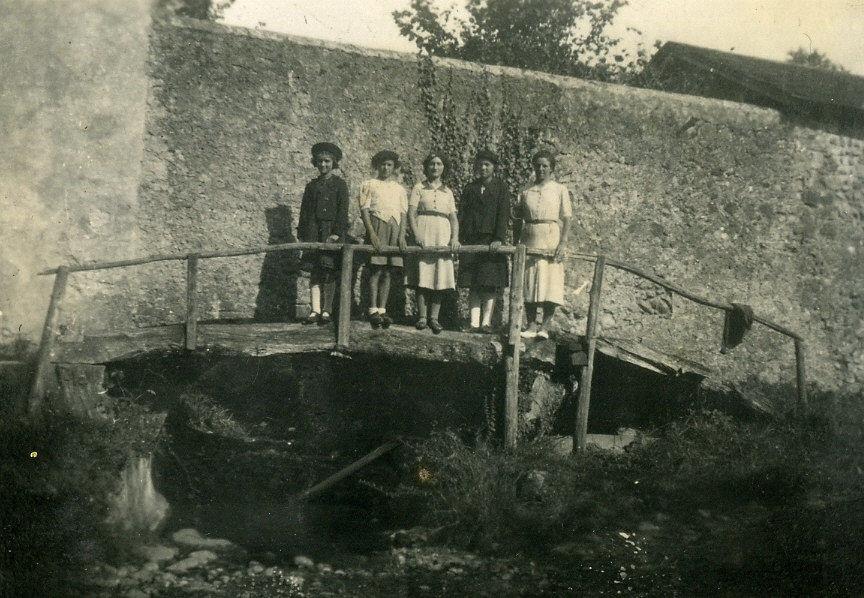 Pont Lacrouts qui sépare Cardesse de Lédeuix