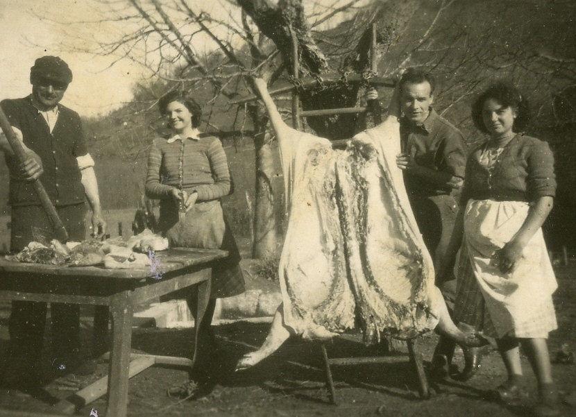 Pèle-porc : Découpe